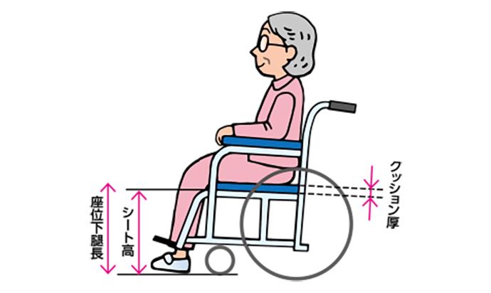 車椅子の選び方|座面の高さ