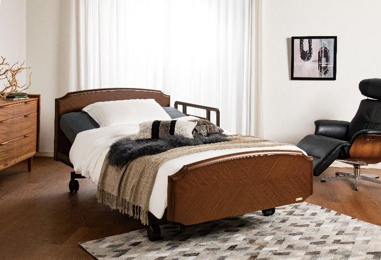 お部屋のインテリアに合う家具調の介護ベッド