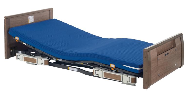 リコメンド 新しい背上げ。誤嚥リスクに配慮した超低床ベッド 【プラッツ】ラフィオ 3モーター電動ハイバックサポート機能付(木製フラット)