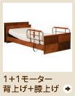 1+1モーター介護ベッド(背上げ+膝上げ)